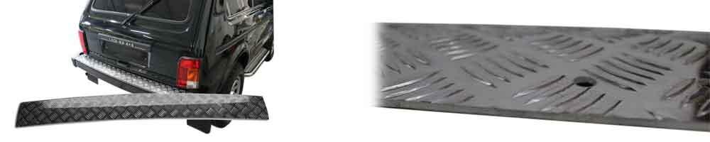 Hundetrittauflage auf hinteren Stoßstange<br> Nur  Fahrzeuge mit Alu Stoßstange <br> 169,00 EURO